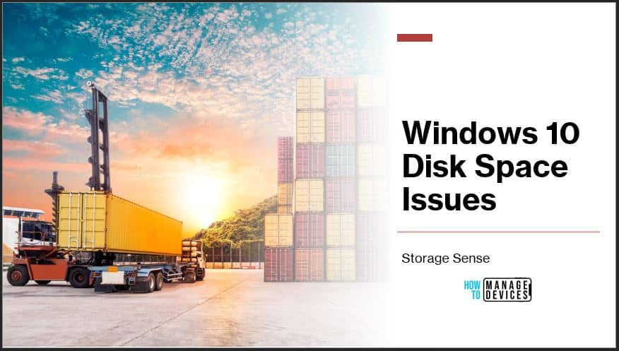 Fix Windows 10 Disk Space Issues