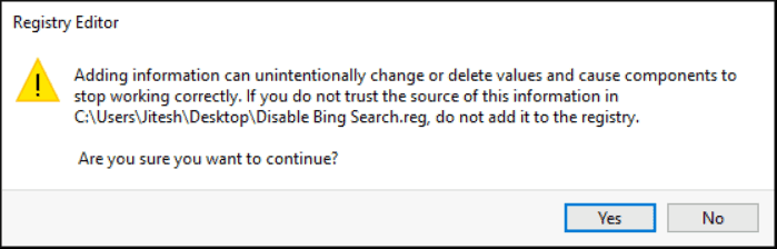 Windows 10 How to Disable Web Search From Start Menu