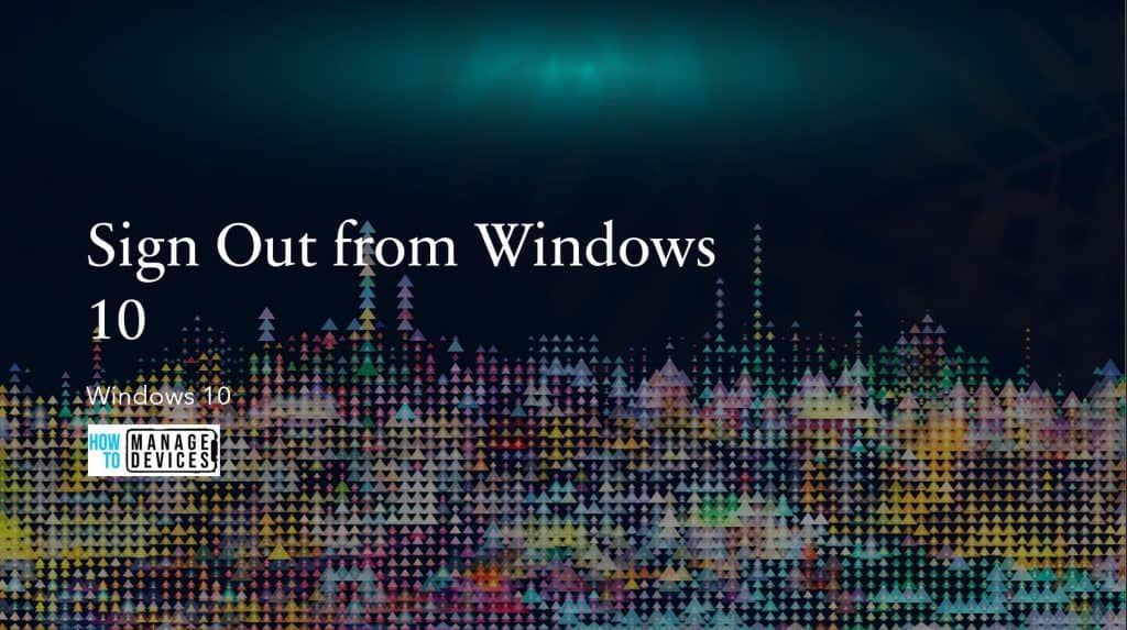 Sign Out from Windows 10