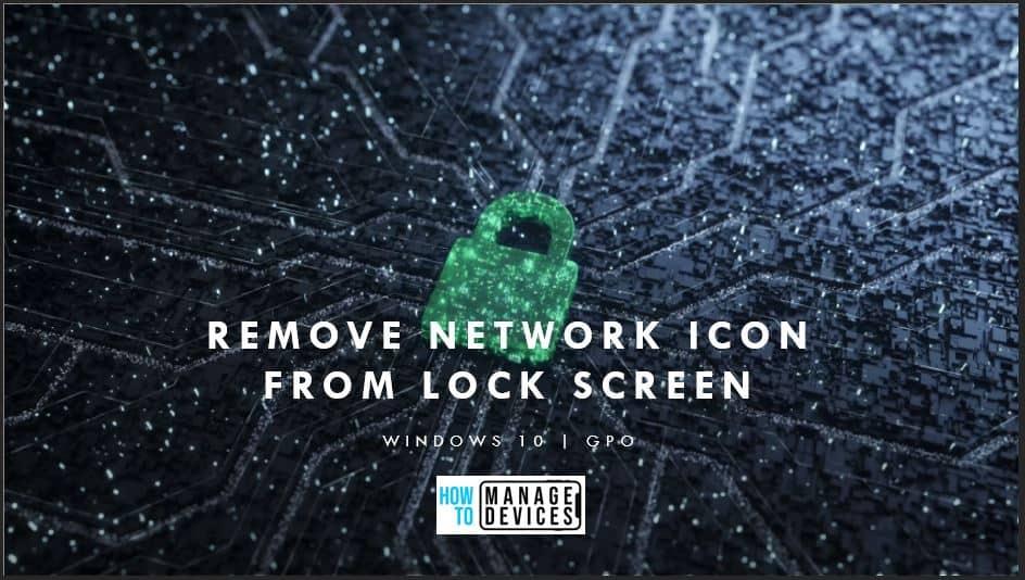 Remove Windows 10 Network Icon