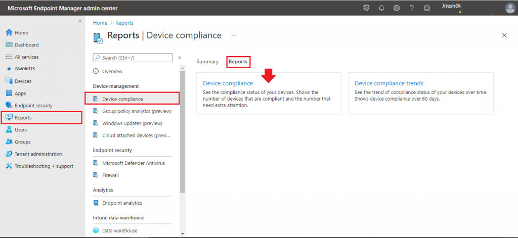 Intune Device Compliance Reports   Endpoint Manager