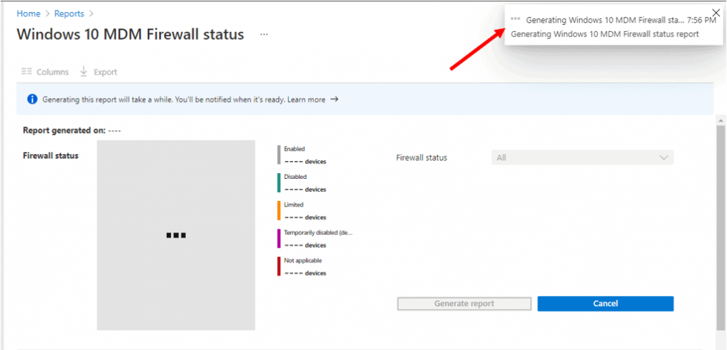 Windows 10 MDM Firewall Status Report | Endpoint Manager