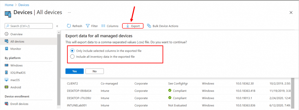Export All Devices Data from Intune Portal | Endpoint Manager
