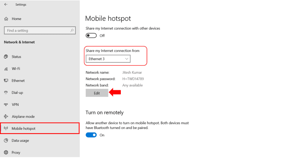 How to Use Windows 10 PC as a Mobile Hotspot