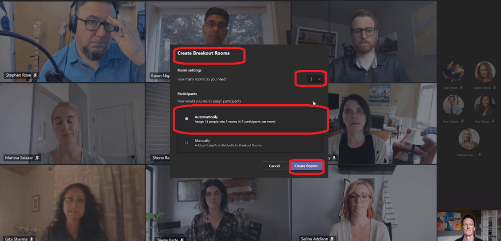 Teams News Standout Presentation Mode Webinar Options & Virtual Breakout Rooms Channel