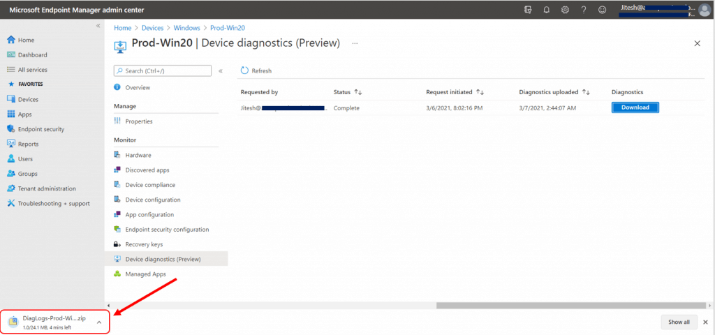 Learn How to Collect Windows 10 Diagnostics Information from Intune Portal | Endpoint Manager
