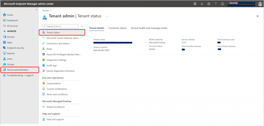 How to Check Intune Service Release Version |  Endpoint Manager