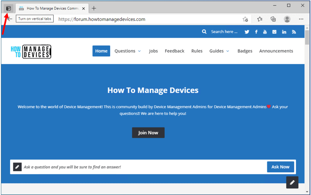 How to Turn On or Off Vertical Tabs in Microsoft Edge Chromium
