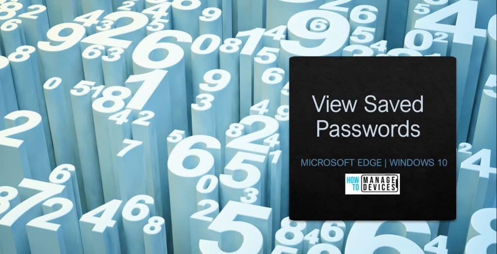 View Saved Passwords in Microsoft Edge