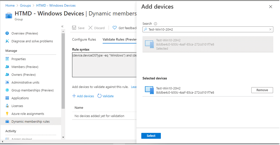 Validate Azure AD Dynamic Group Rules   Intune 1