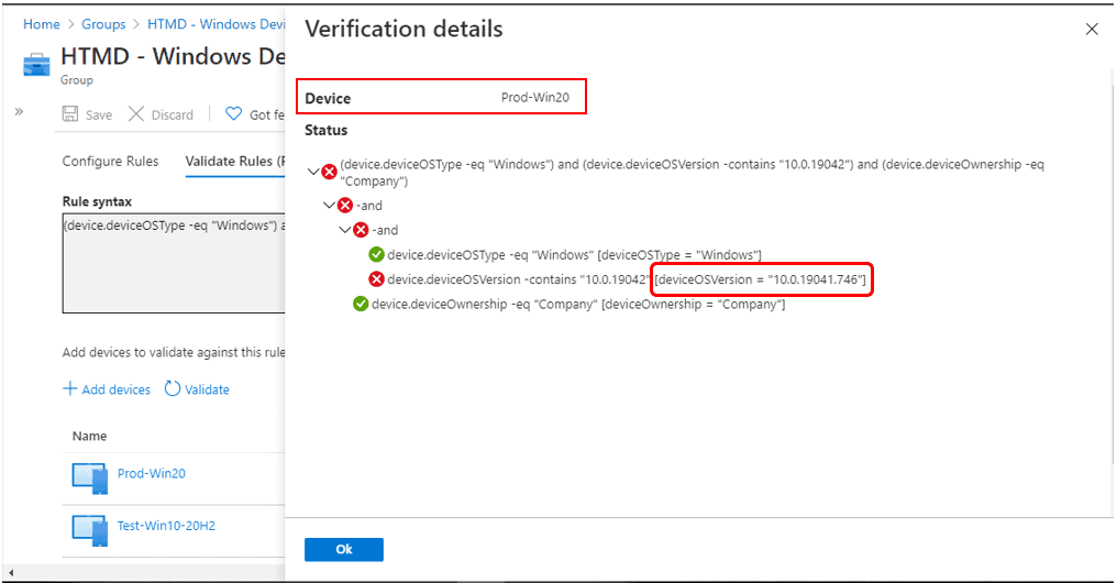 Validate Azure AD Dynamic Group Rules | Intune