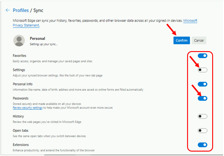 How to Turn On or Off Sync in Microsoft Edge Chromium