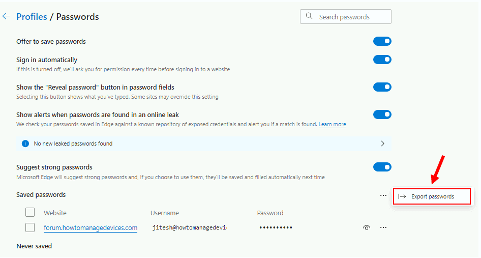 How to Export Passwords in Microsoft Edge Chromium | Windows 10