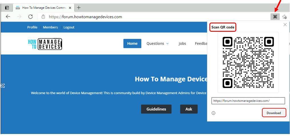 How to Create QR Code in Microsoft Edge Chromium | Windows 10