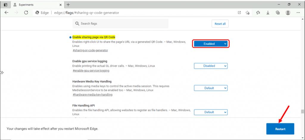 Enable QR Code Generator in Microsoft Edge Chromium | Windows 10
