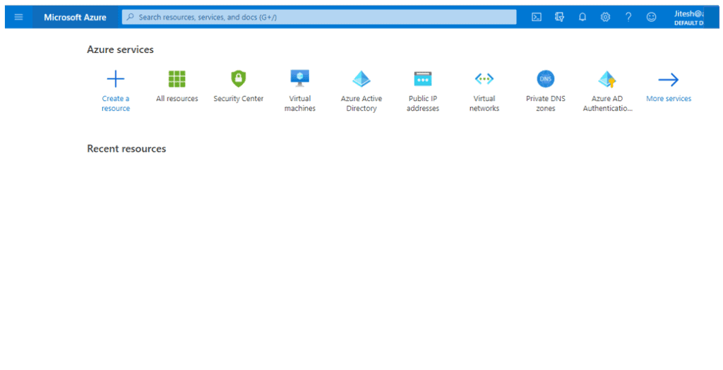 FlyOut Menu - Azure Portal Settings and Preferences Walkthrough