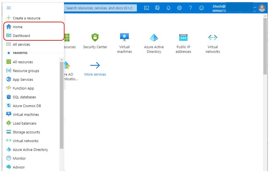 Choose Default View - Azure Portal Settings and Preferences Walkthrough