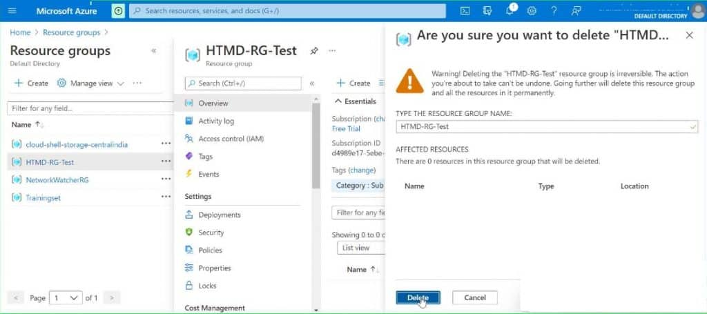 What is Azure Resource Group? Creation and Deletion Process Step by Step Guide 9