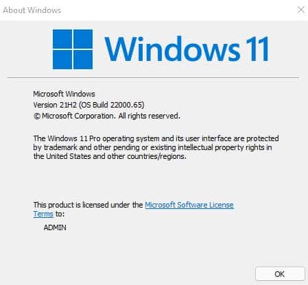 Windows 11 Insider preview build 22000.65 Latest Features Fixes Known Issues 1