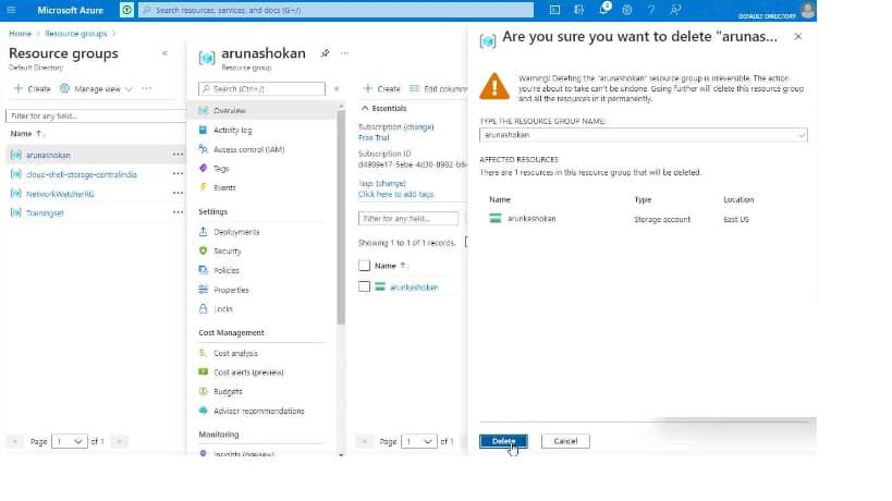 Azure Resource Locking Options available | Step by Step guide to create delete understand their behavior 18