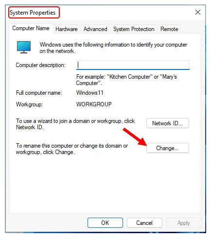 Rename PC in Windows 11