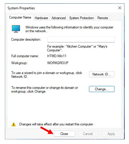 System Properties - Windows 11