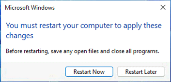 Restart Your Computer - Windows 11