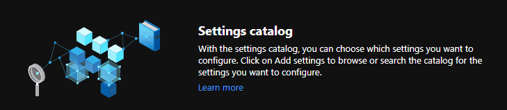 List of Intune Settings Catalog Policies