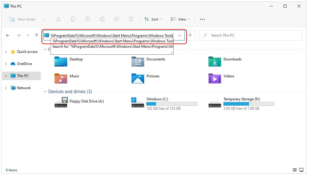 Open Windows 11 - Administrative Tools