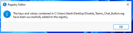 Disable Microsoft Teams Chat from Taskbar- Windows 11