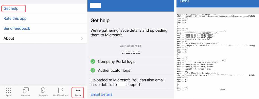 How to Collect Intune Logs from iOS Device Company Portal