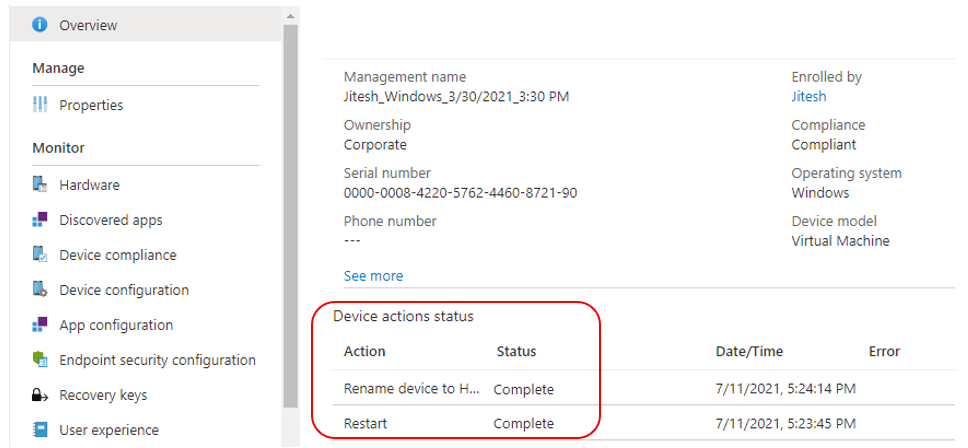 Rename Device in Intune