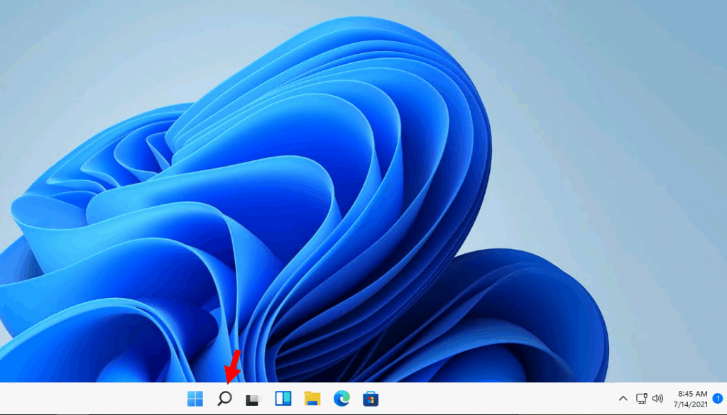 .Windows 11 Taskbar - Search Icon