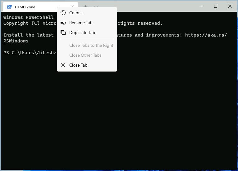Windows Terminal - Rename | Color Option