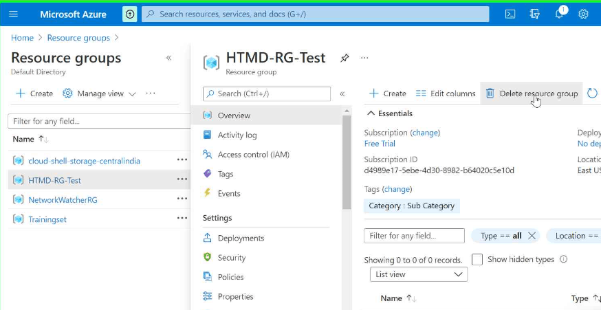 What is Azure Resource Group? Creation and Deletion Process Step by Step Guide 8