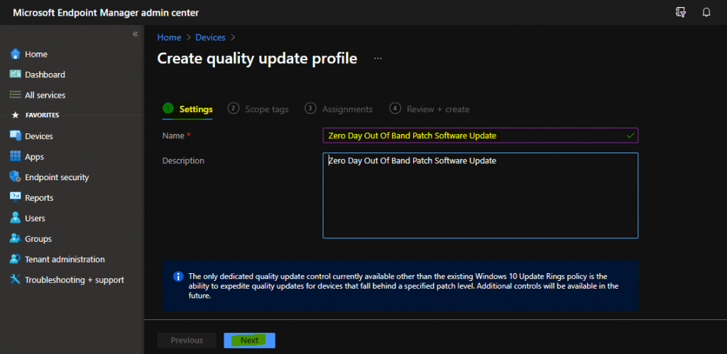 Zero Day Out Of Band Patch Deployment using Intune MEM