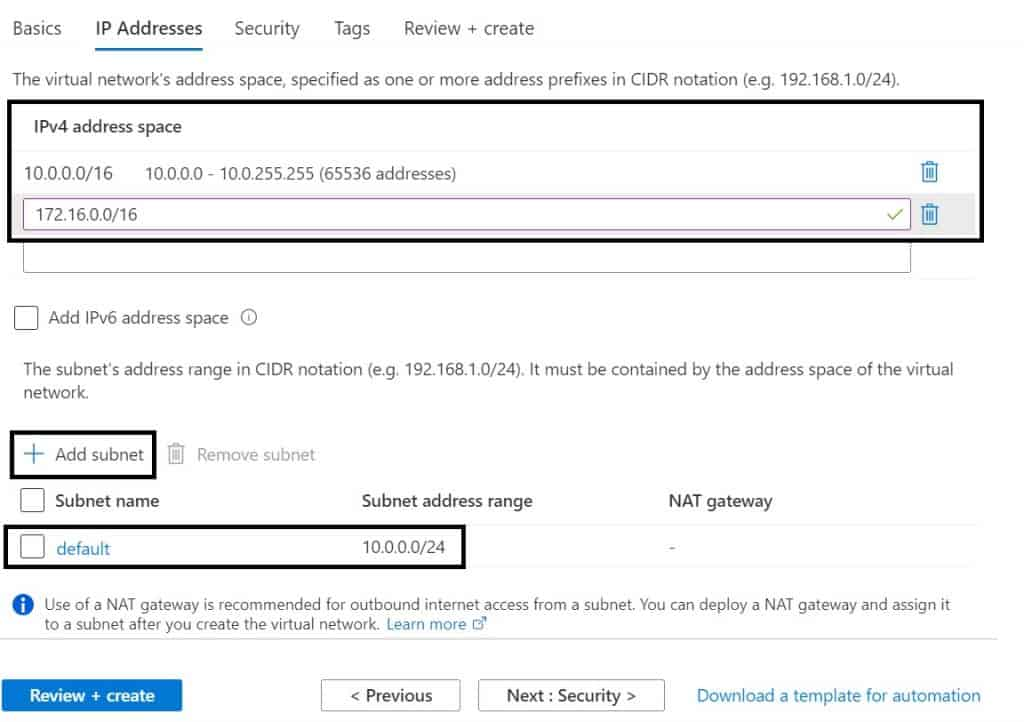 Azure Virtual Networks- A step-by-step guide to create and Understand Virtual Networks in Azure Portal 3