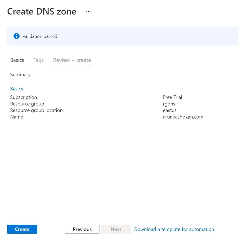 Create Azure DNS Zones step-by-step guide 2