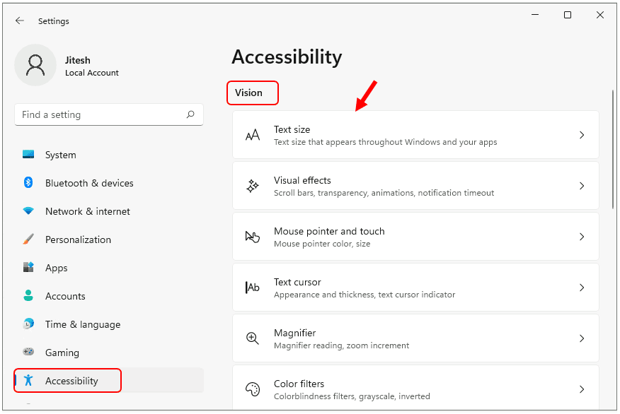 Windows 11 Accessibility Features